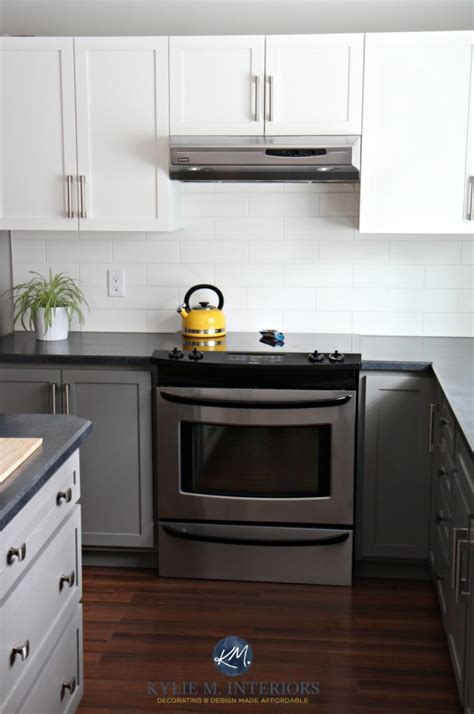budget friendly kitchen update white gray