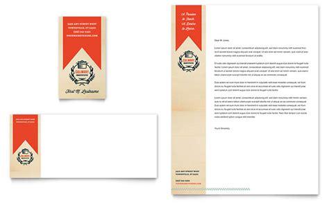 culinary school business card letterhead template design