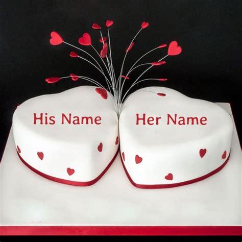 write   happy anniversary heart cake onlineprint