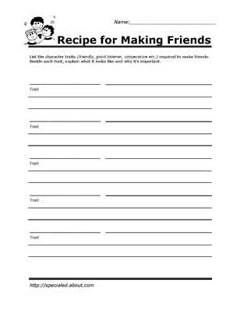 practice social skills   worksheets  kids