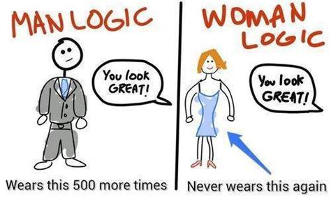 Men And Women Memes - man vs woman logic man s logic you look great