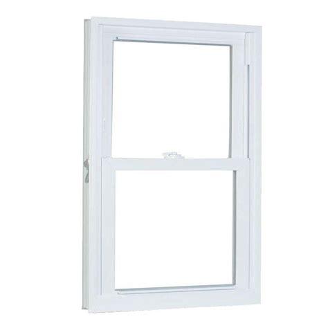 american craftsman       series pro double hung white vinyl window  buck