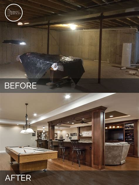 Home Bar Makeover by Bolingbrook Before After Basement Finish Project