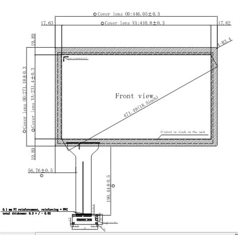 18 5 inch pcap ttransparent touch screen panel with g g structure multi touch screen panel