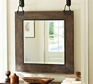 Carleton mirror pottery barn for Barn style mirrors