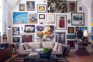Create an eye catching gallery wall for How to decorate walls with art