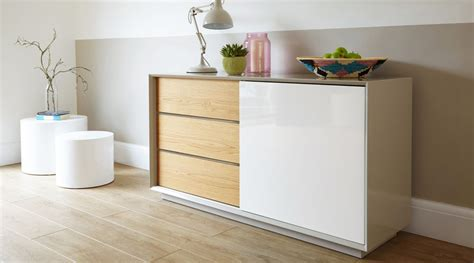 White Gloss And Oak Sideboard by Modern Grey White And Oak High Gloss Sideboard Uk Delivery