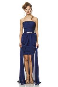 midnight blue bridesmaid dress fashion strapless midnight blue chiffon pleated bridesmaid dress removable skirt