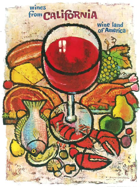 cuisines vintage a california wine land in posters vintage european posters