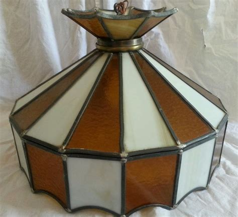 vintage stained glass ceiling hanging light l fixture
