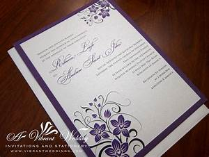 Best Album Of Purple And Silver Wedding Invitations ...