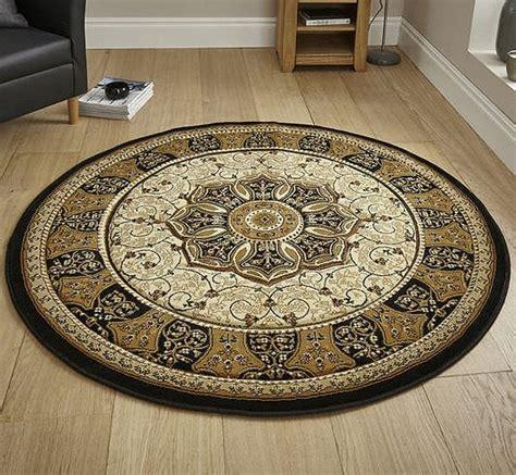heritage  rug black cream  heritage circular rug