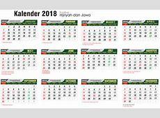 Download Kalender 2018 Masehi 1439 Hijriyah Corel Gratis