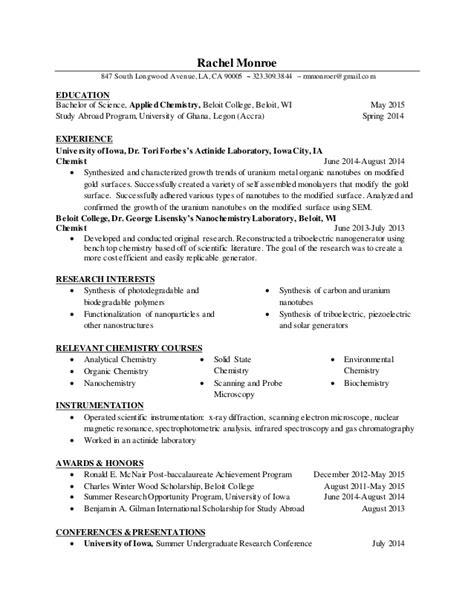 Resume Chemistry Lecturer by Chemistry Faculty Resume Botbuzz Co