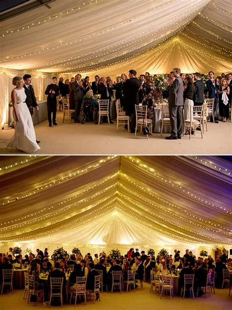 marquee wedding reception photo