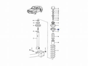Buy Vento Genuine Vw Rear Upper Suspension Spring On 2040