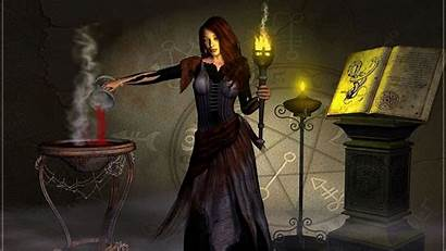 Witch Desktop Wallpapers Backgrounds Fantasy Wiccan Computer