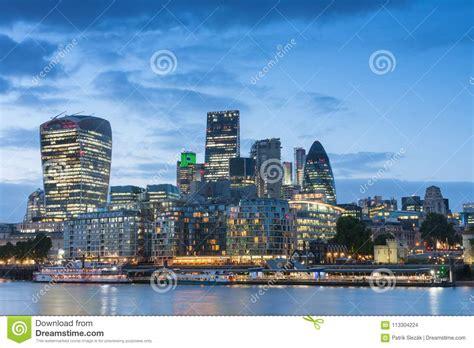 thames embankment  london skyscrapers  city  london stock photo image  district