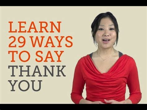 How To Say Thank You In 29 Languages Youtube