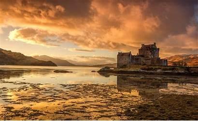 Donan Castle Eilean Scotland Landscape Lake Wallpapers