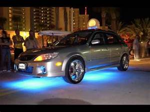 Car tuning with neon lights