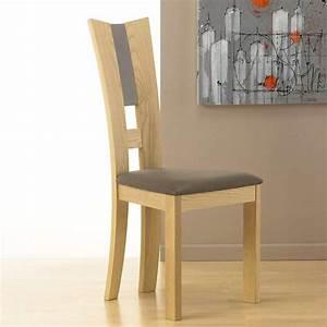 chaise de salle a manger contemporaine en tissu et bois With salle À manger contemporaineavec chaises bois massif salle manger
