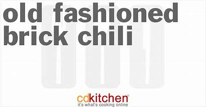 Brick Chili Fashioned Cdkitchen Recipes Recipe