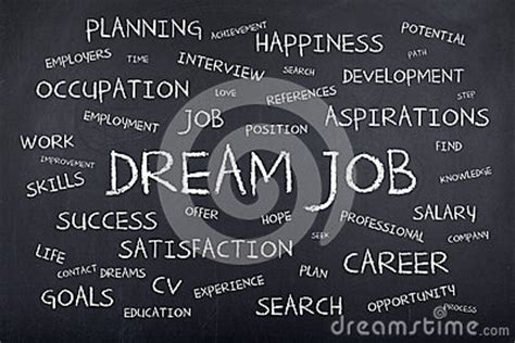 dream job background concept word cloud stock photo