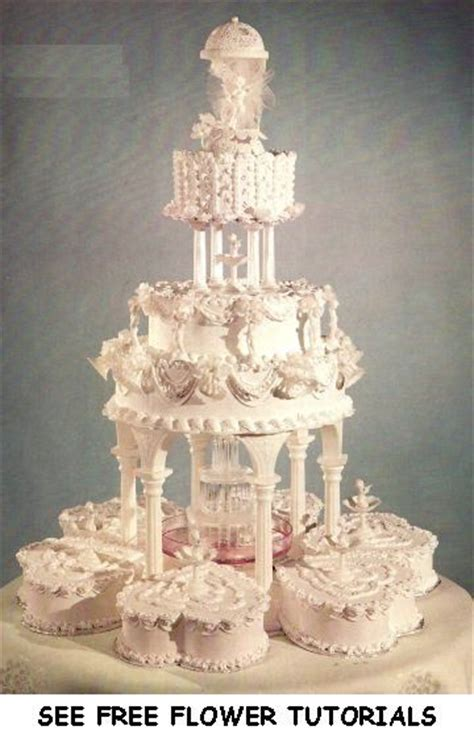 ideas  fountain wedding cakes  pinterest