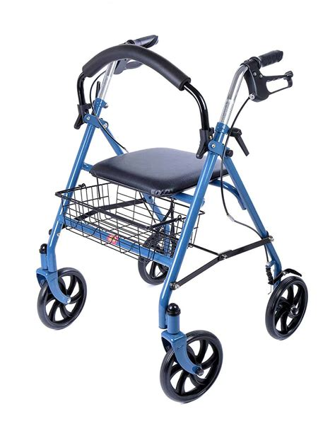 elderly walking aids wheel lightweight seat rollator basket wheeled without zimmer frame frames mobility
