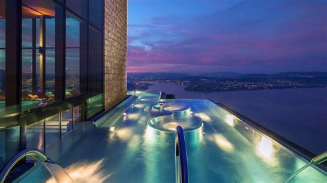 alpine spa opens  burgenstock  lake lucerne travel weekly