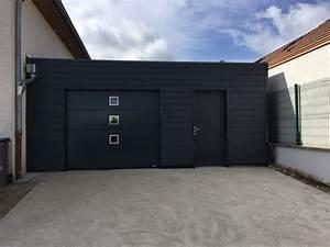 Porte De Garage Gris Anthracite : garage ossature bois sur mesure de qualit garage bois double en kit ~ Melissatoandfro.com Idées de Décoration