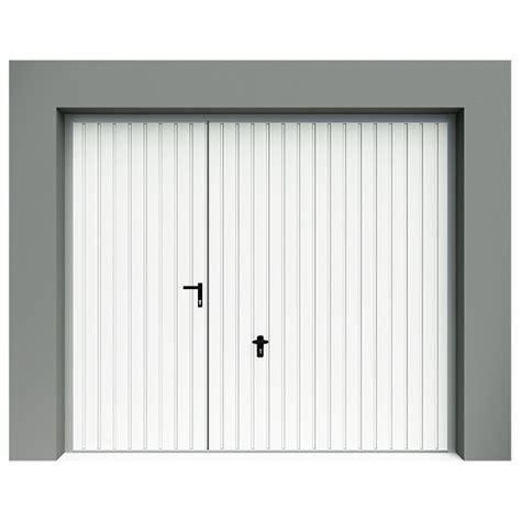 porte de garage basculante 224 rainures verticales avec portillon porte basculante