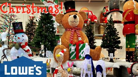 lowes home store christmas decorations shop with me lowes decorations elvis 2017