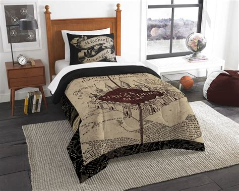 marauders map bedding harry potter the marauder s map comforter set