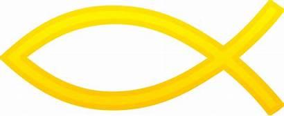 Fish Symbol Christian Gold Clip Symbols Clipart