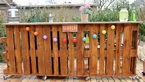 Theke Selbst Gebaut : bar aus paletten selber bauen palettenbar diy palettenm bel ~ Whattoseeinmadrid.com Haus und Dekorationen