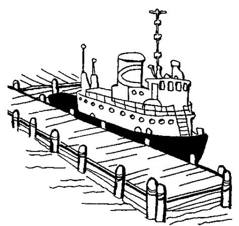 cruise ship dock coloring page book