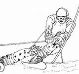 Coloring Skiing Awesome Sky sketch template