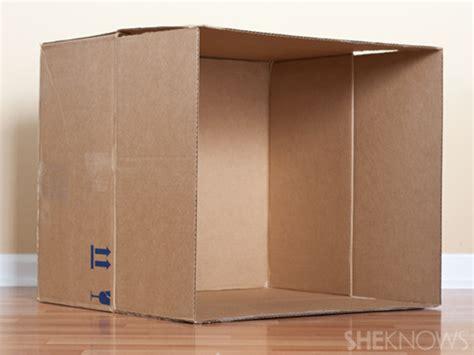 turn  plain cardboard box   super cool playhouse