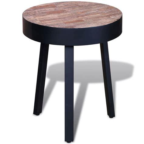 Vidaxlcouk  Side Table Round Reclaimed Teak
