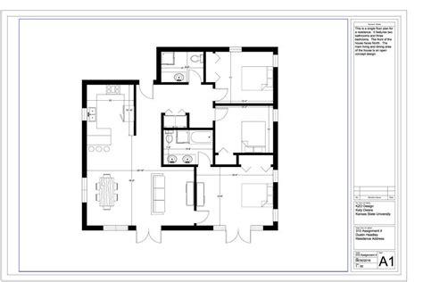 assignment  autocad floor plan owara iapd