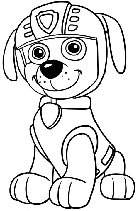 paw patrol zuma coloring kit coloring pages