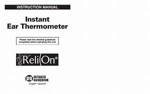Relion Thermometer User Manual