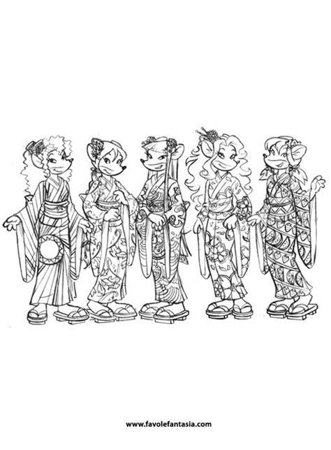 tea sisters da colorare favole  fantasia
