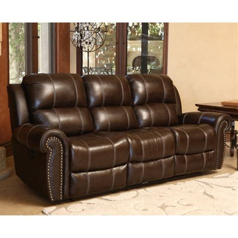 Brown Leather Reclining Sofa And Loveseat by Abbyson Living Kingston Leather Power Reclining Sofa In