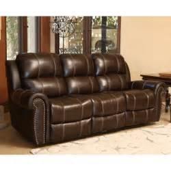 abbyson living bradford reclining sofa abbyson living kingston leather power reclining sofa in