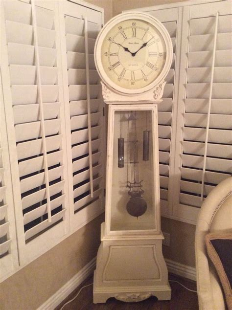 shabby chic grandfather clocks shabby chic grandfather clock gingerly vintage pinterest clock shabby chic and