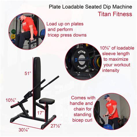 titan plate loadable tricep press machine
