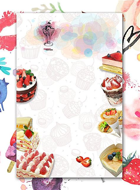dessert food posters   cake background bakery